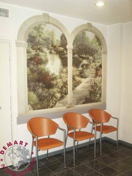 decorazione-parete-affresco-digitale-sala-attesa-dentista