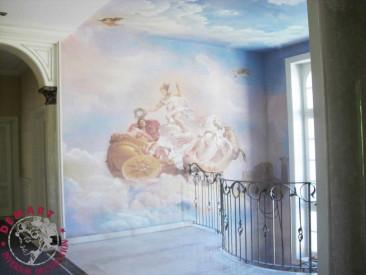 soffitto-decorazione-parete-scala-villa
