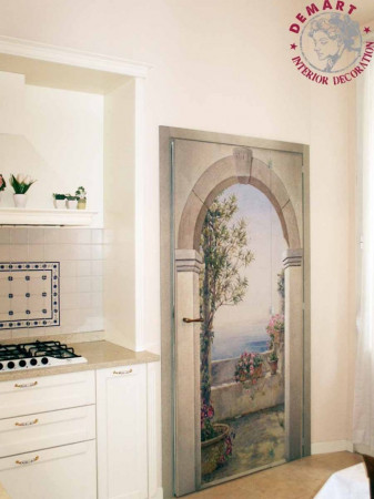 porta-decorazione-parete-affresco-digitale-cucina-privato