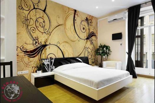 decorazione-parete-interna-camera-letto-tappezzeria-moderna