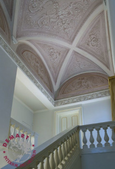 decorazione-soffitto-volte-scala-affresco-digitale