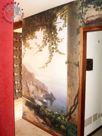 decorazione-parete-affresco-digitale-corridoio-privato