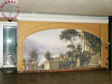 garage-decorazione-parete-affresco-digitale-privato