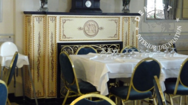 decorazione-camino-ristorante