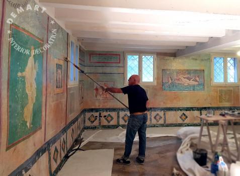 lavori-posa-affresco-digitale-spa-stile-antica-pompei-07