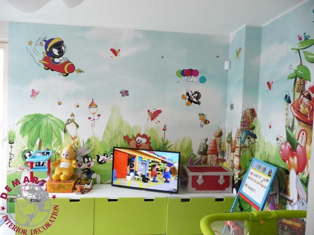 Idee per decorare le pareti di casa il portfolio lavori firmati demart - Pareti camera bambini ...