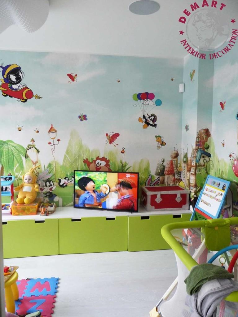 Muri Camerette Per Bambini decorazione interni per villa privata, inzago