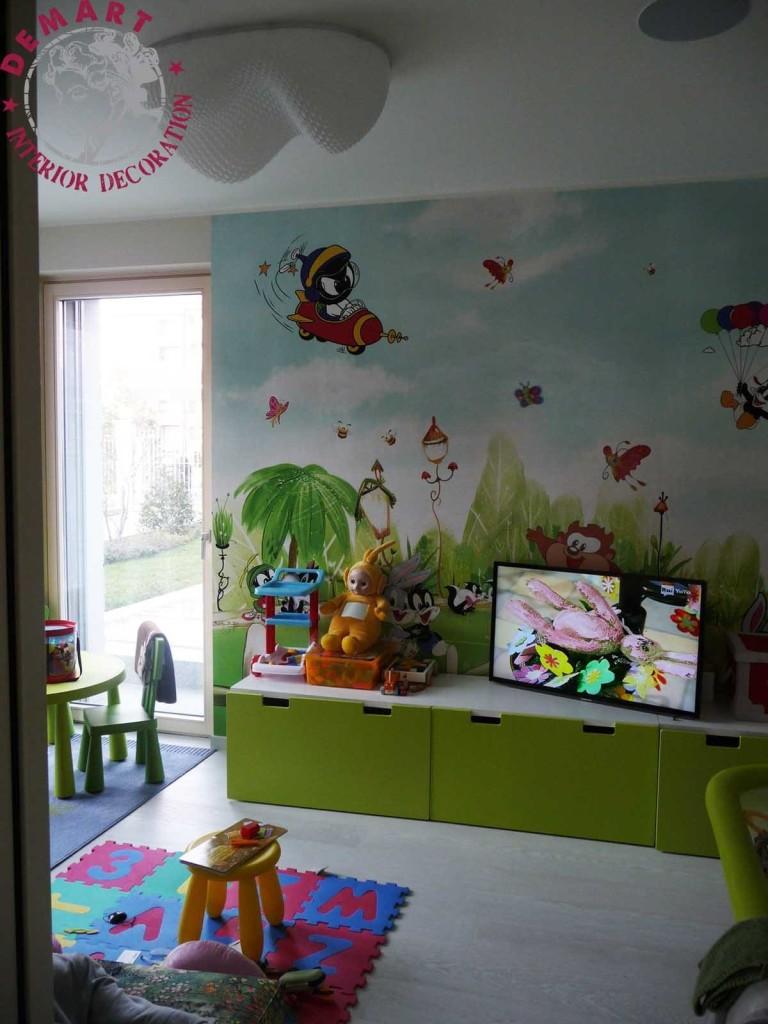 Idee per decorare le pareti di casa il portfolio lavori for Parete cameretta bambina