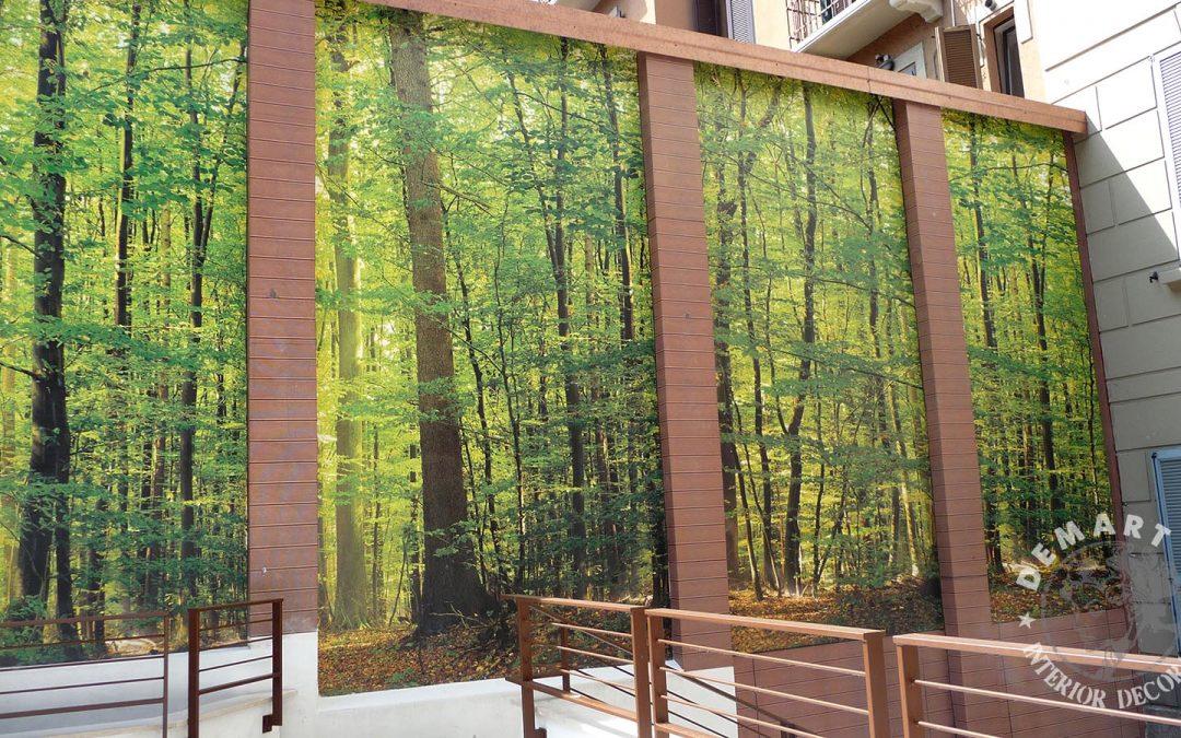 """Decorazione parete esterna per """"Cambio casa, cambio vita"""""""