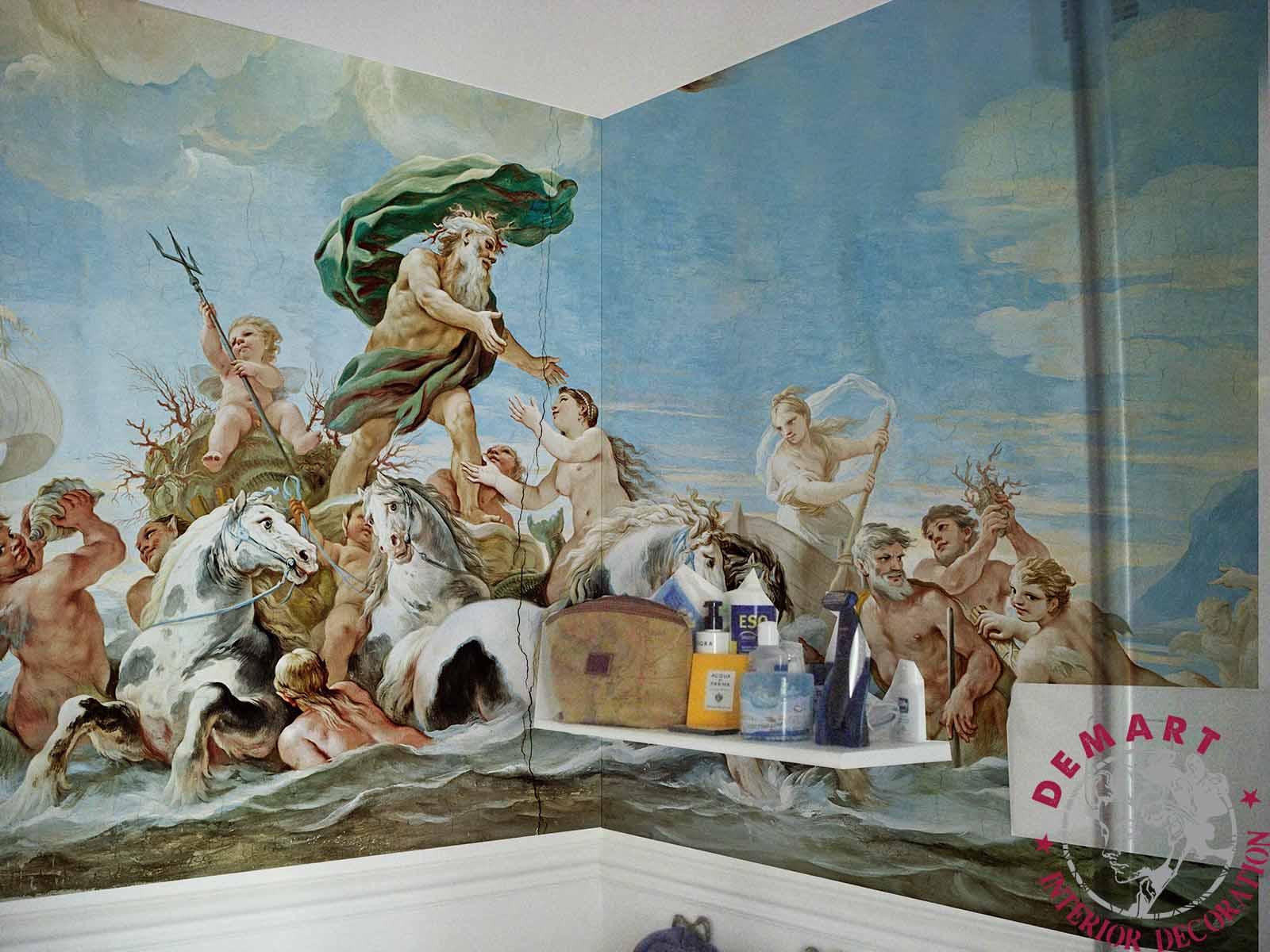 Decorazione Pareti Bagno : Decorazione parete affresco digitale bagno privato 02 u2013 demart