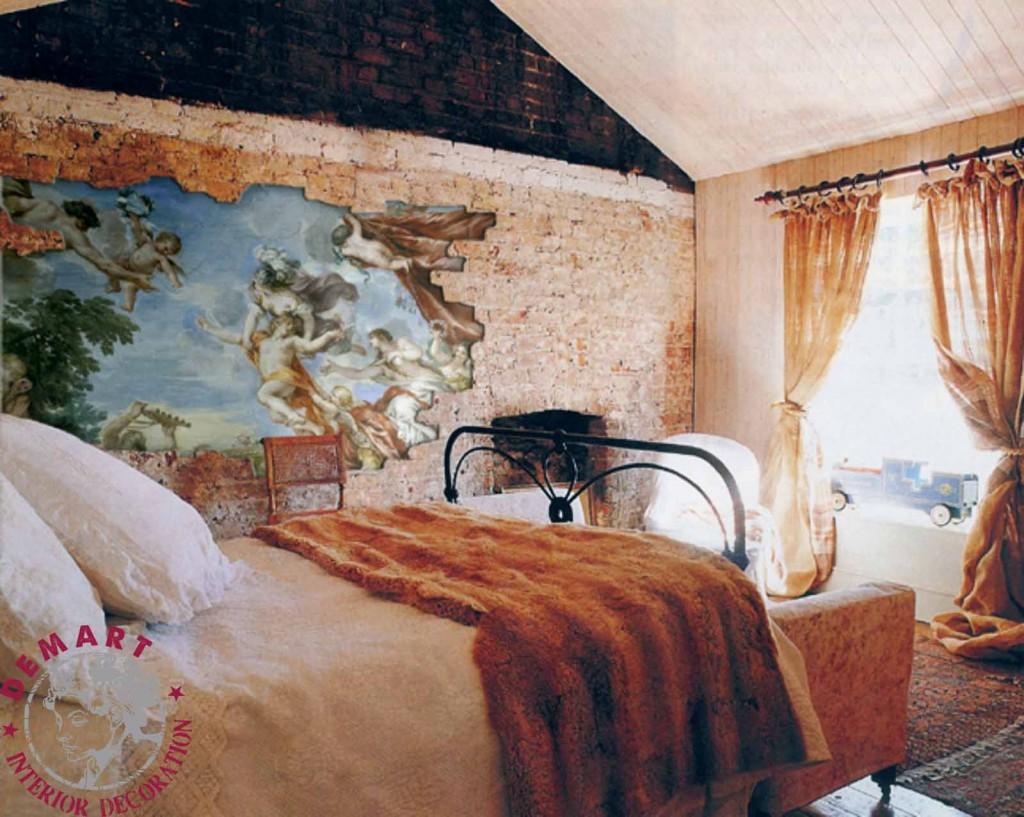 Idee per decorare le pareti di casa il portfolio lavori firmati demart - Camera da letto decorazioni murali ...