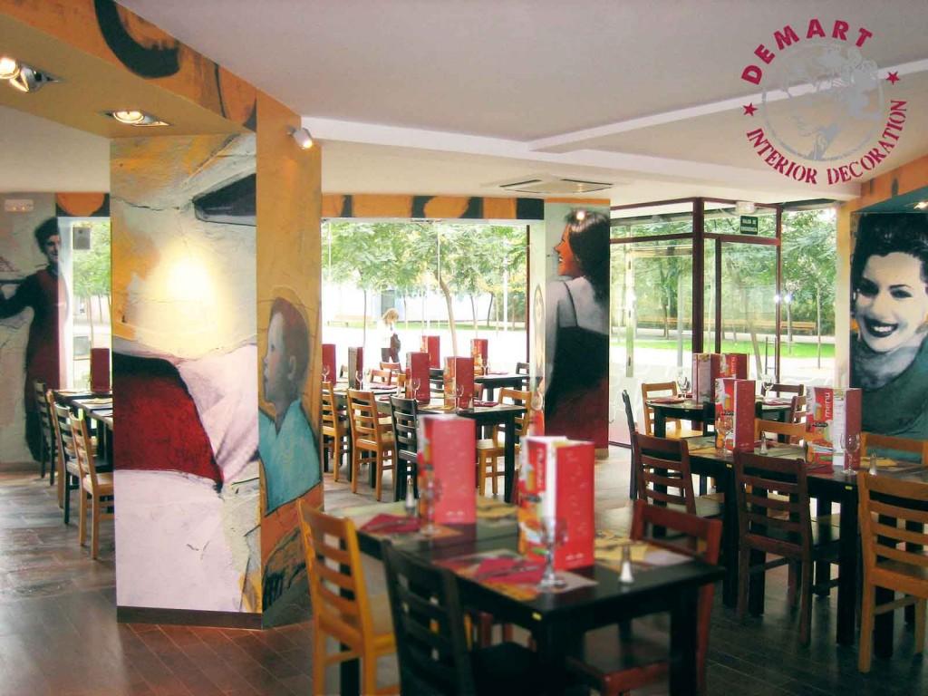 Decorazione interni per ristorante pastarito milano for Ristorante murales milano