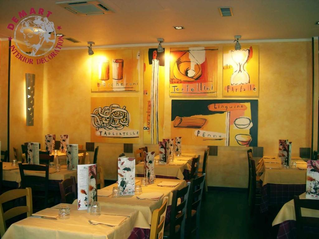 Decorazione interni per ristorante pastarito milano for Decorazione interni