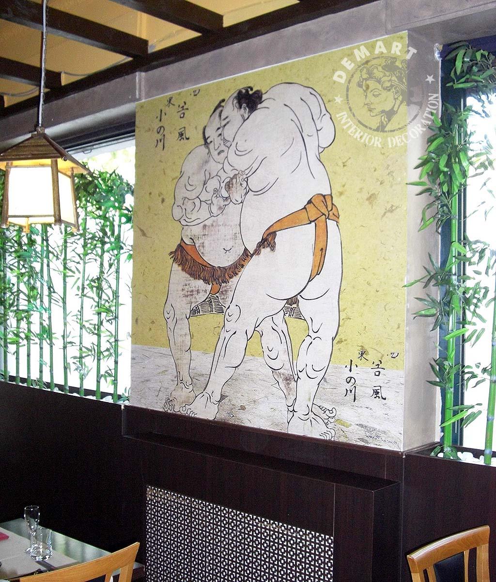 Decorazione pareti interne ristorante giapponese sakura 5 demart interior decoration - Decorazione pareti interne ...