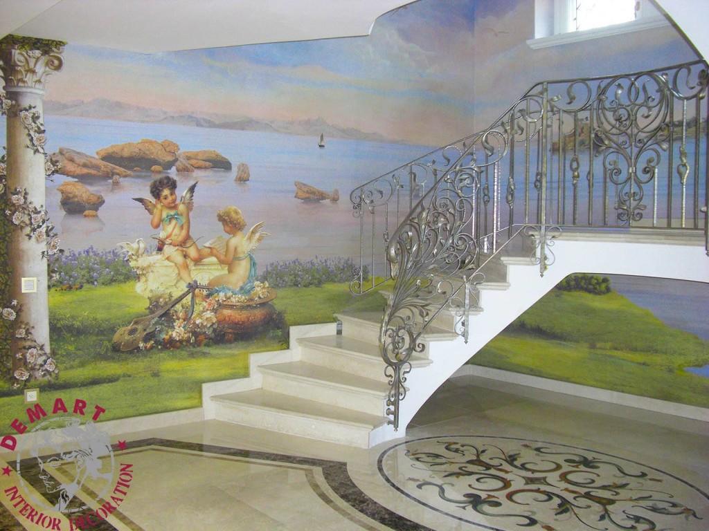 Decorazione D Interni Per Pareti Villa Su Tre Piani Lugano