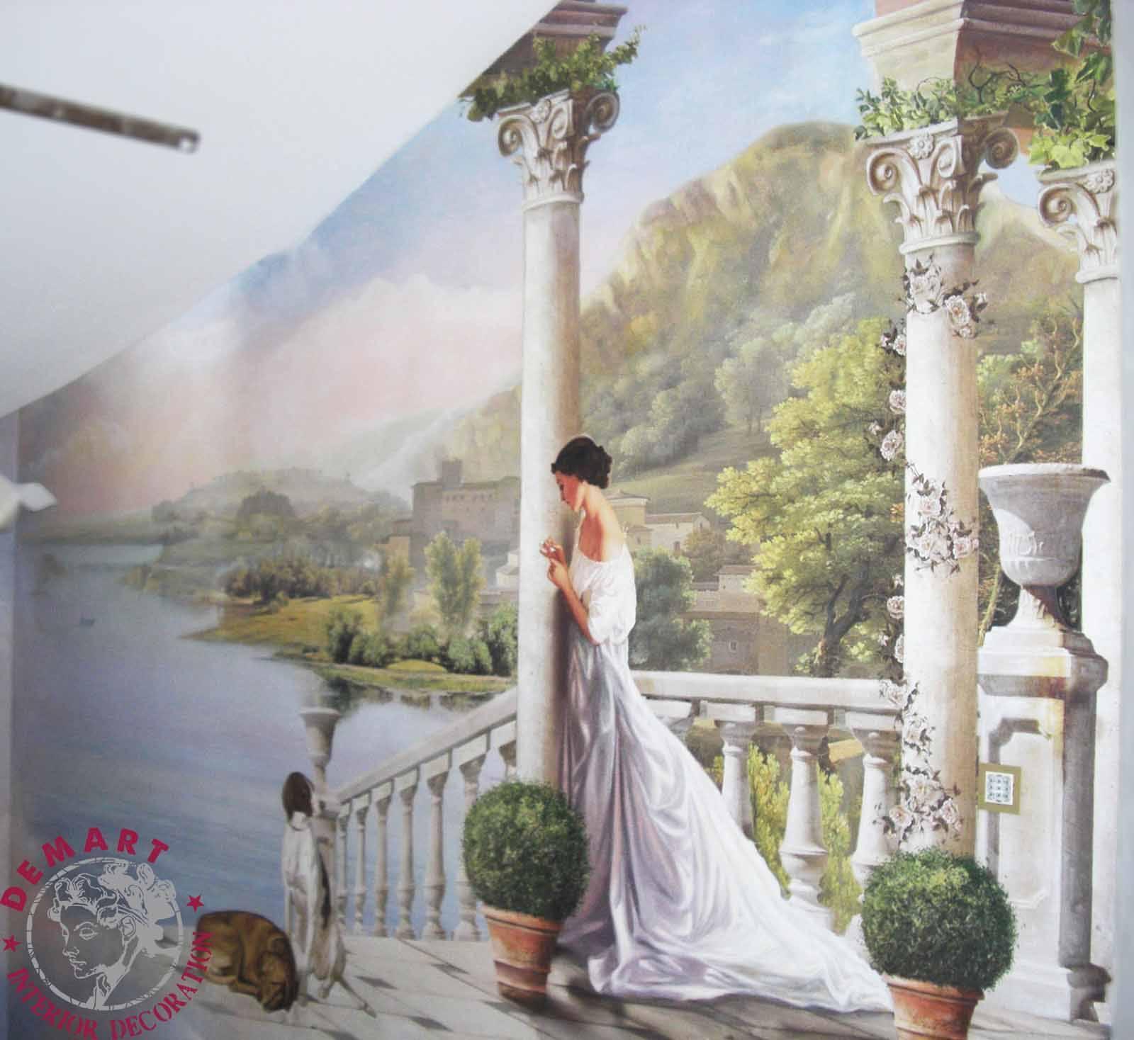 Lugano decorazione interni villa scala 04 demart for Decorazione interni