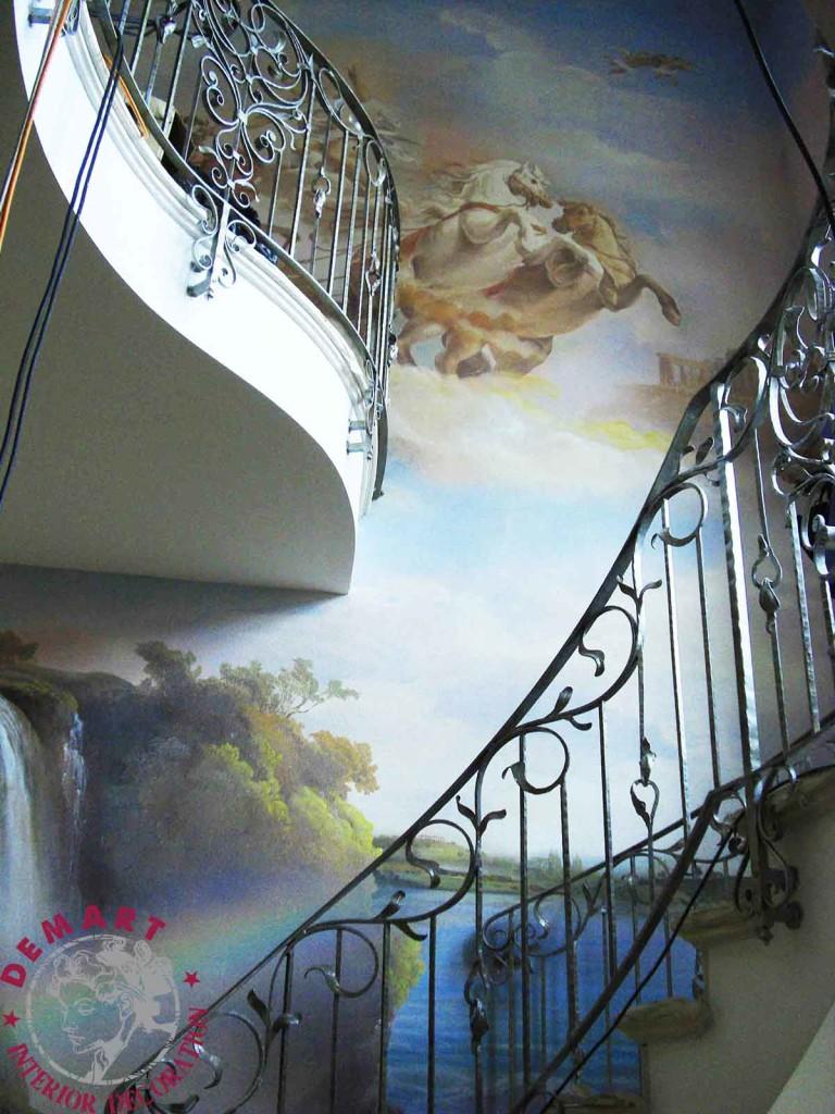 Decorazione D 39 Interni Per Pareti Villa Su Tre Piani Lugano
