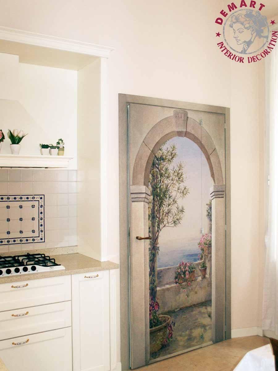 porta-decorazione-parete-affresco-digitale-cucina-privato-01 ...