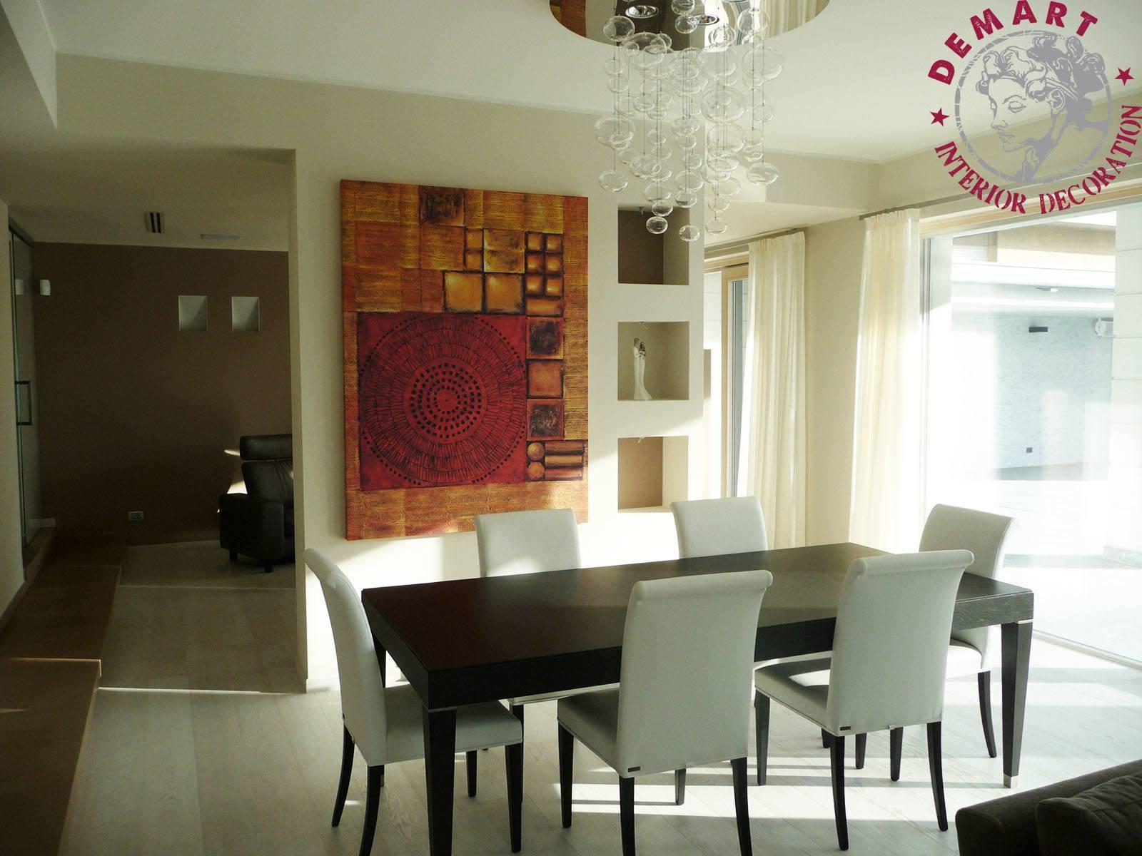 Decorazione interni per villa privata inzago for Decorazione interni