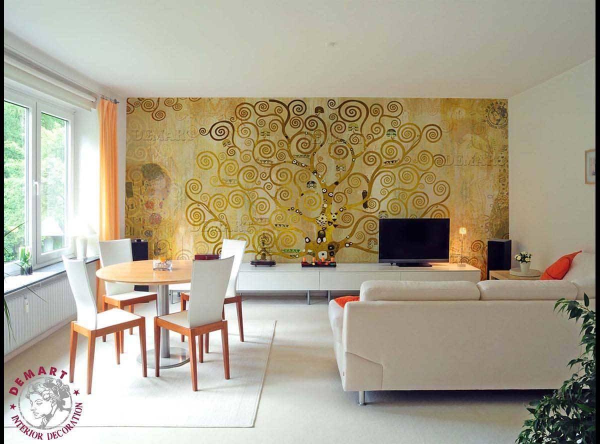 Tappezzeria soggiorno 04 demart interior decoration for Tappezzeria adesiva