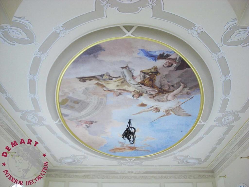 Decorazione pareti e soffitto per ingresso, scala e camere da ...