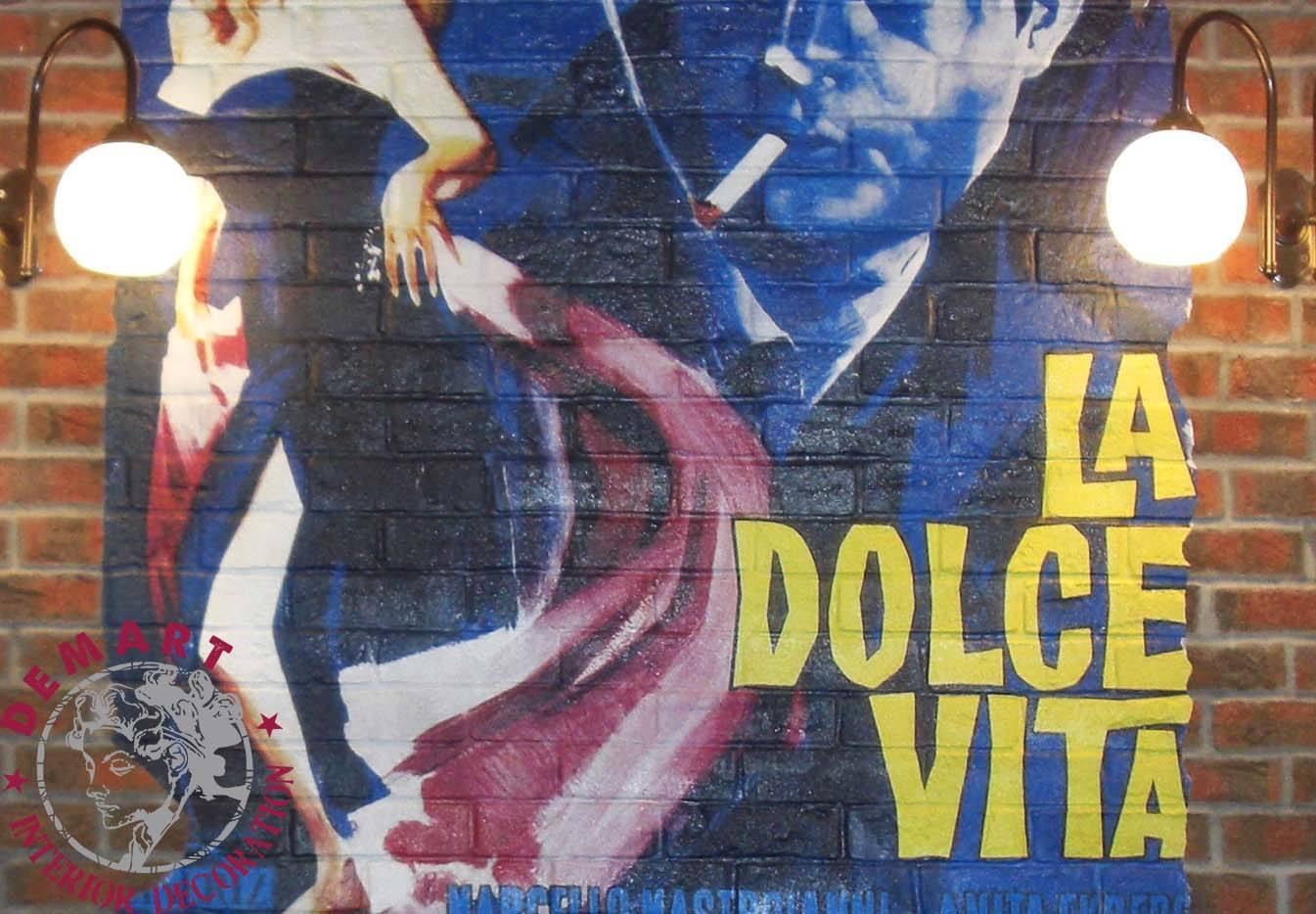 Decorazione interni per ristorante i soliti ignoti milano for Ristorante murales milano