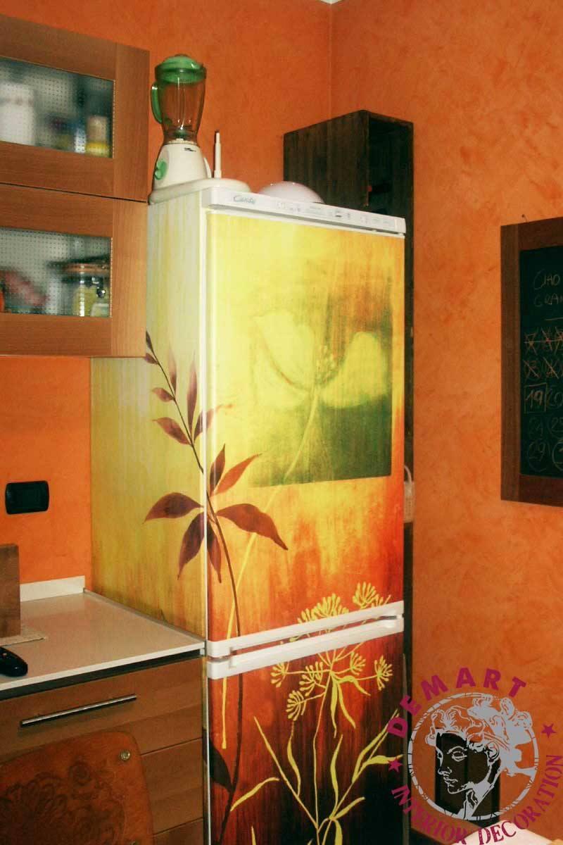Pellicole adesive fai da te porte vetro e frigorifero for Pellicola adesiva mobili