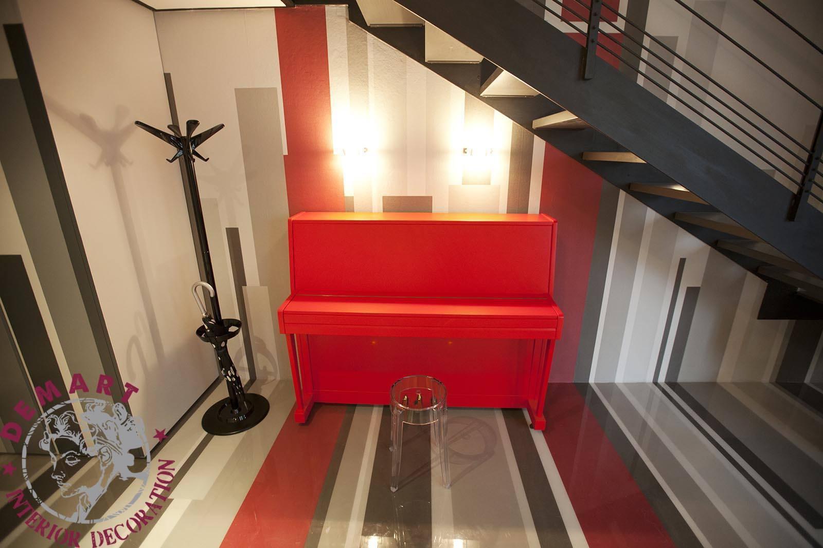 """Decorazione pianoforte per <em>""""Cambio casa, cambio vita""""</em>"""