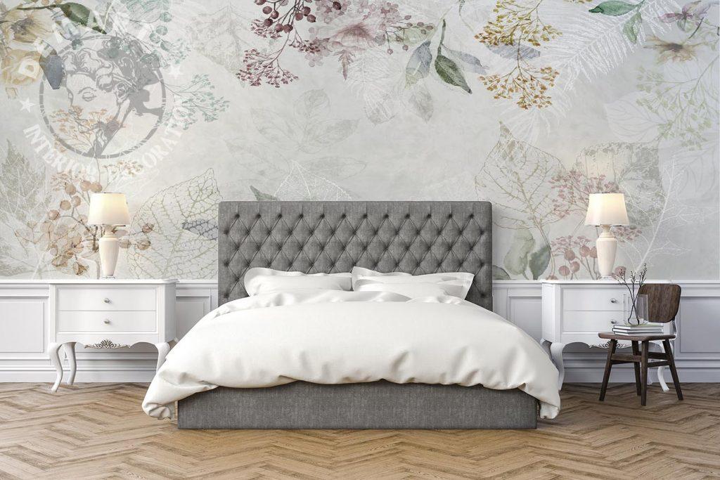 carta-parati-shabby-chic-motivi-floreali-camera-letto-colori-caldi