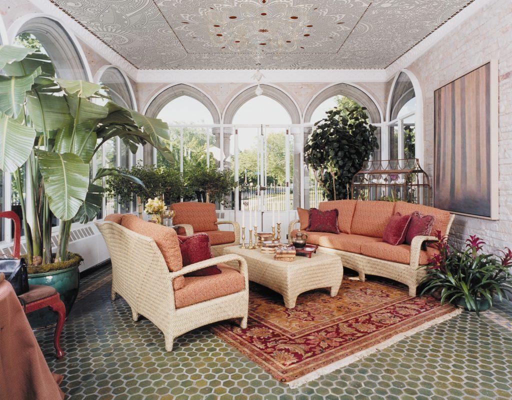 carta-parati-moderna-soffitto-maiolica