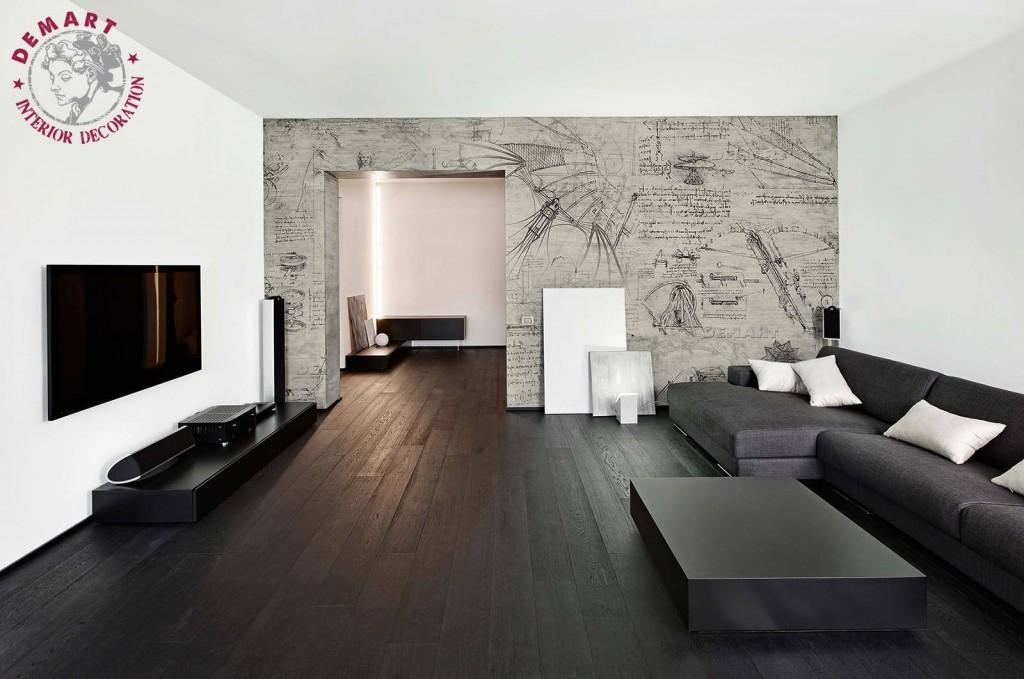 carta-parati-codice-da-vinci-parete-soggiorno