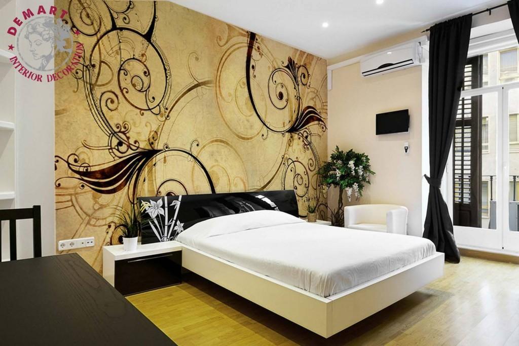 carta-parati-camera-letto-moderna-ocra-giallo