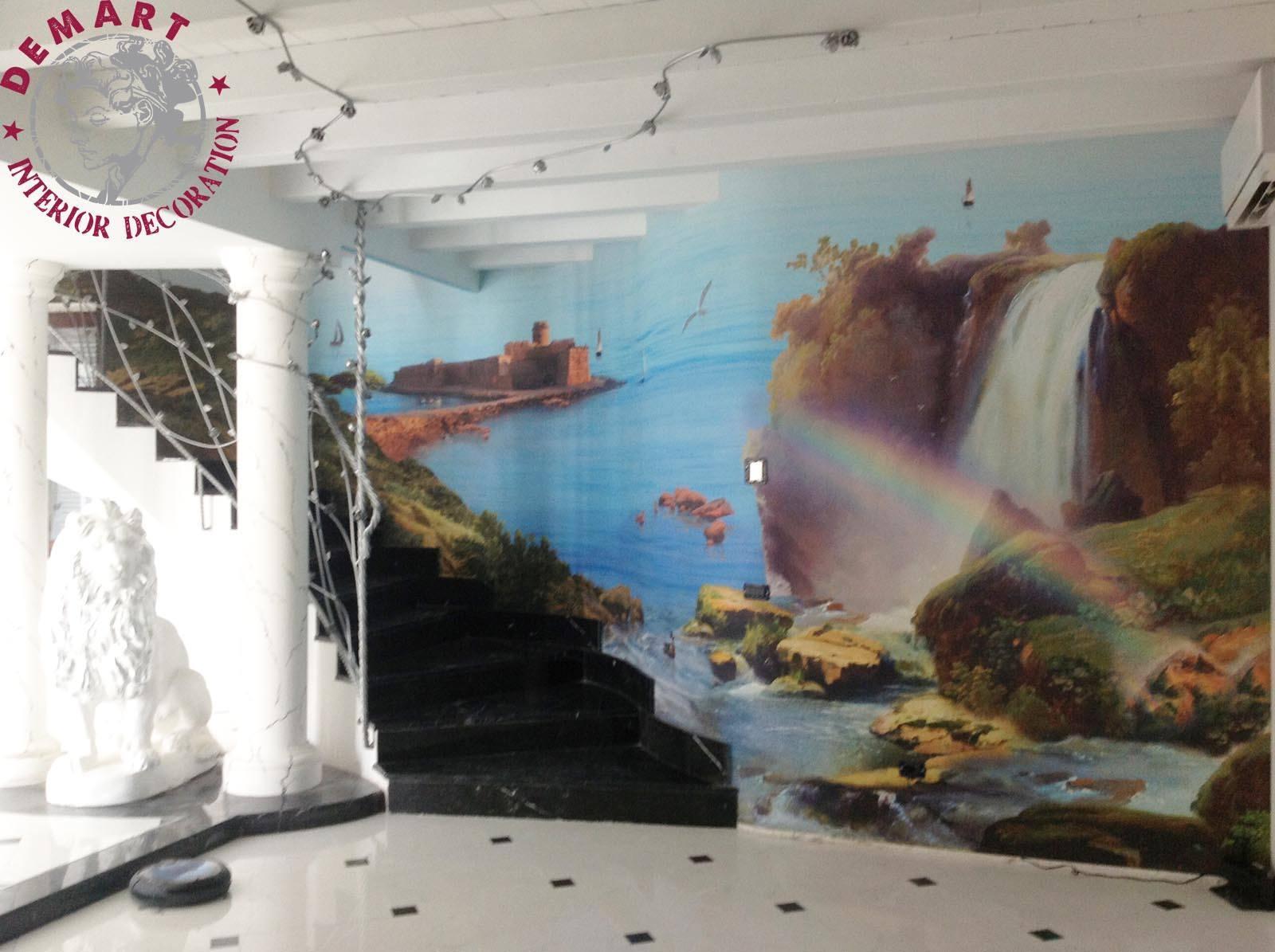 """Decorazione attico, tema """"paesaggi Calabria"""""""