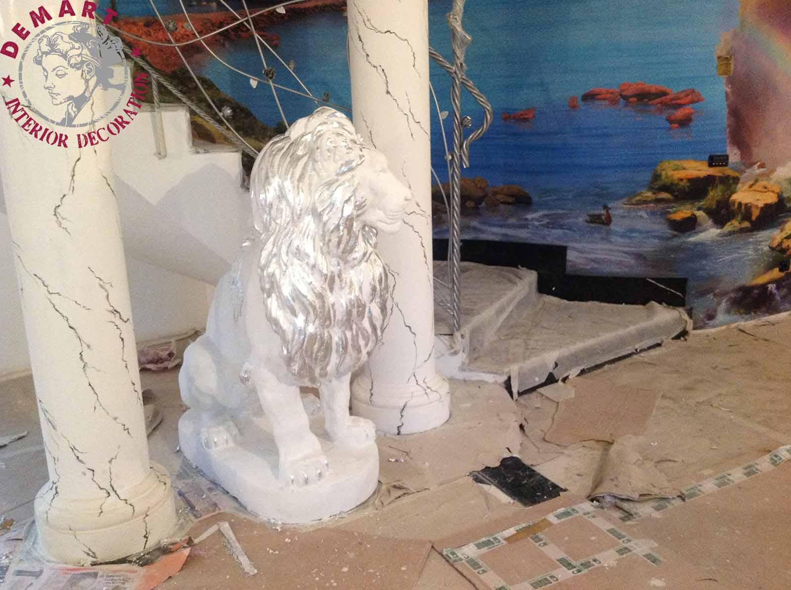 affresco-digitale-decorazione-statua-foglia-argento-privato-02