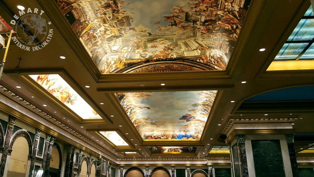 """Progetto per decoro pareti e vetrate soffitti per Hotel """"The Parisian"""", Macao"""