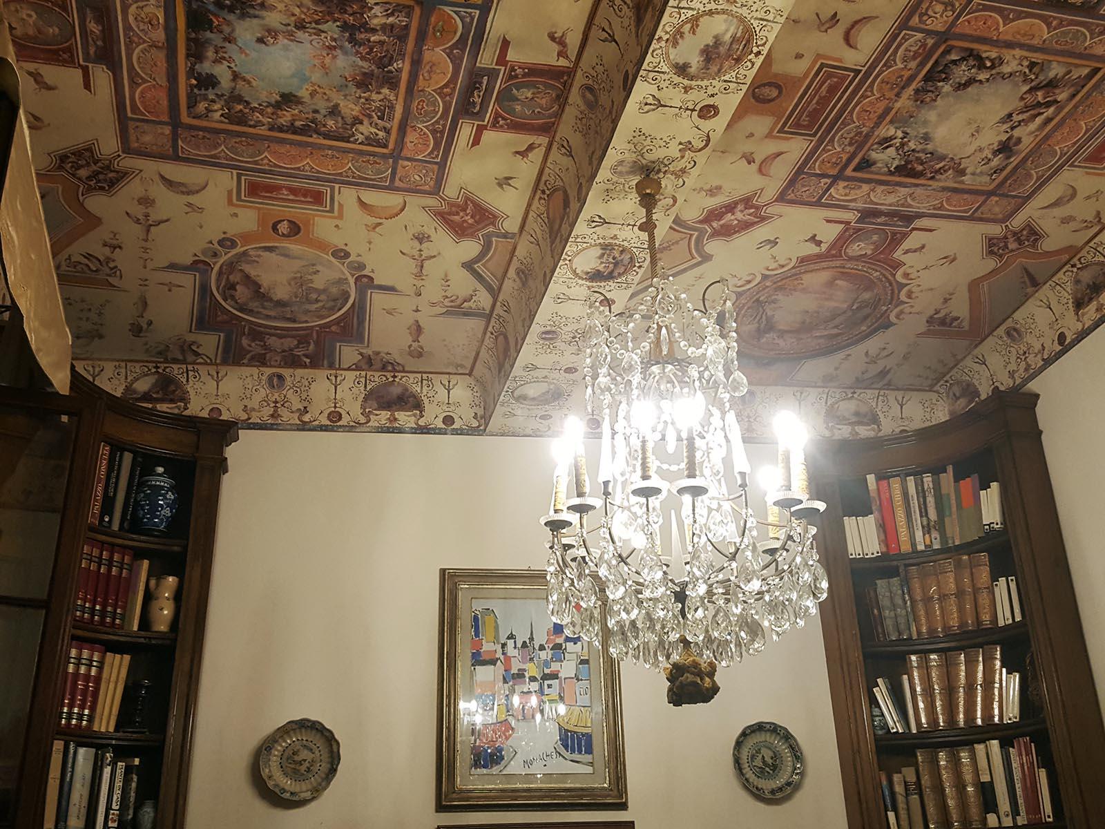 Decorazione interni siena affresco soffitto palazzo for Decorazione interni