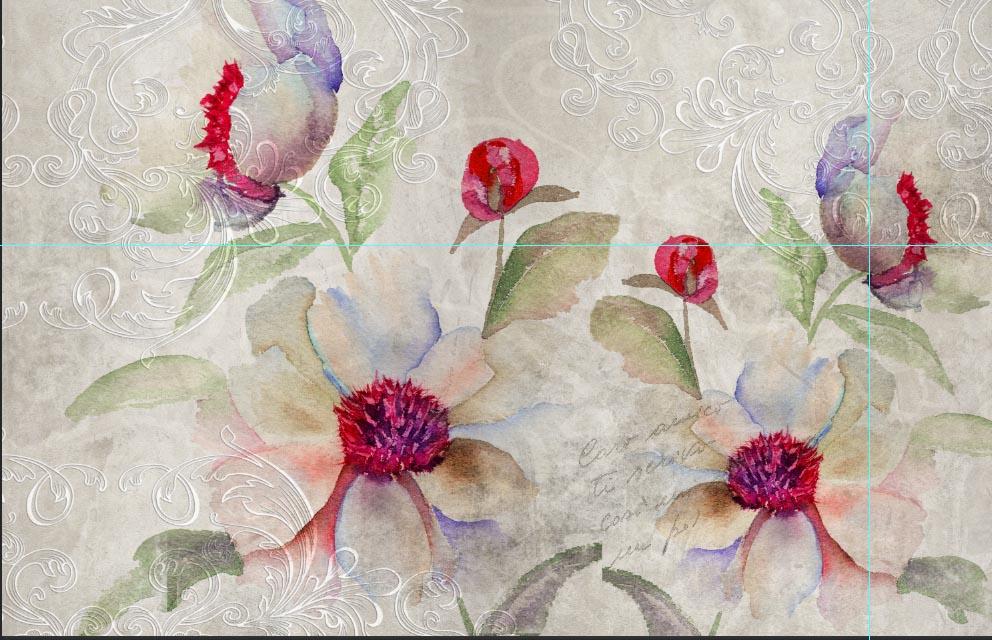 Tappezzeria personalizzata camera soggiorno flower cp 48 for Tappezzeria adesiva