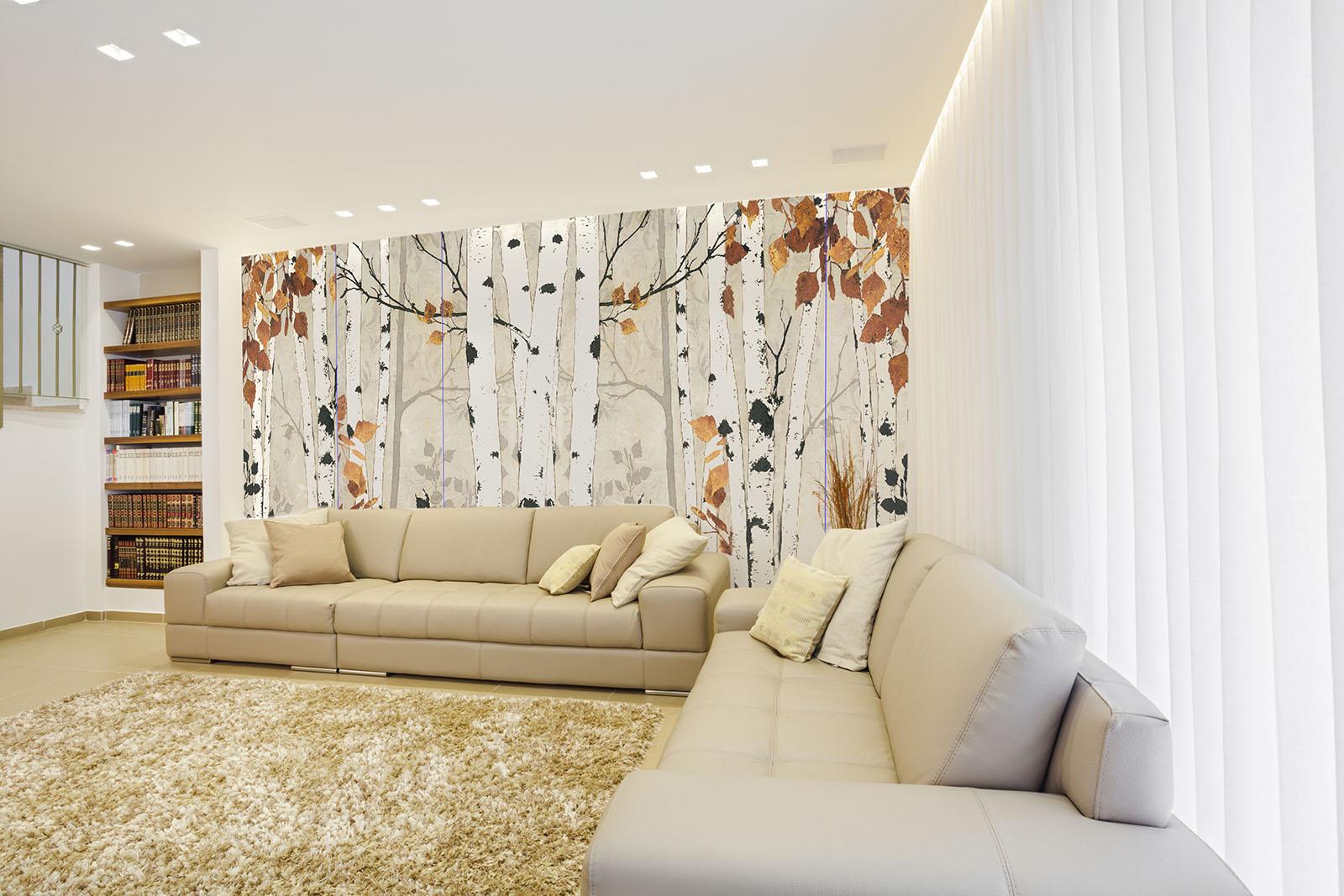 Carta parati design moderno per soggiorno, camera letto e ...