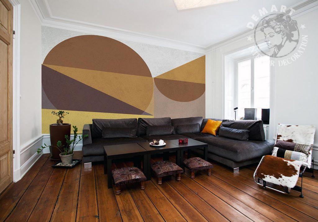 carta-parati-geometrica-marrone-soggiorno