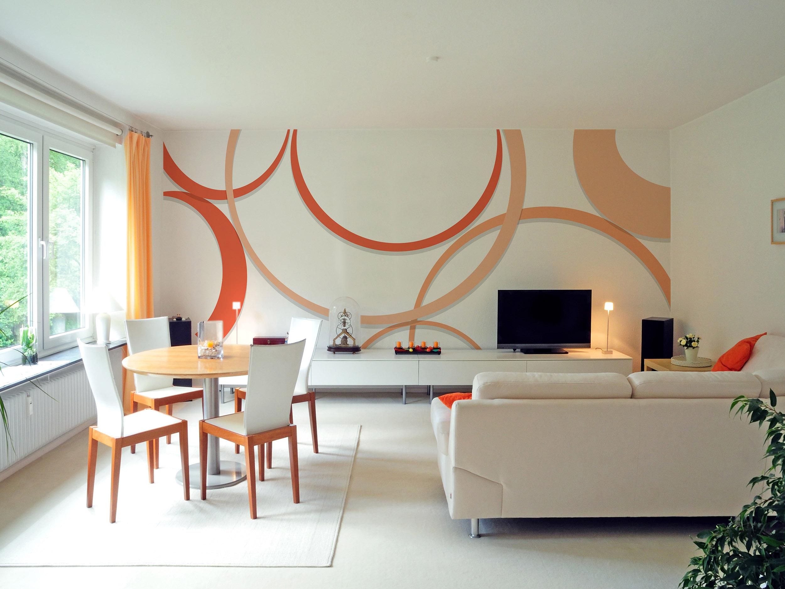 Carta parati moderna geometrica per soggiorno e camera ...