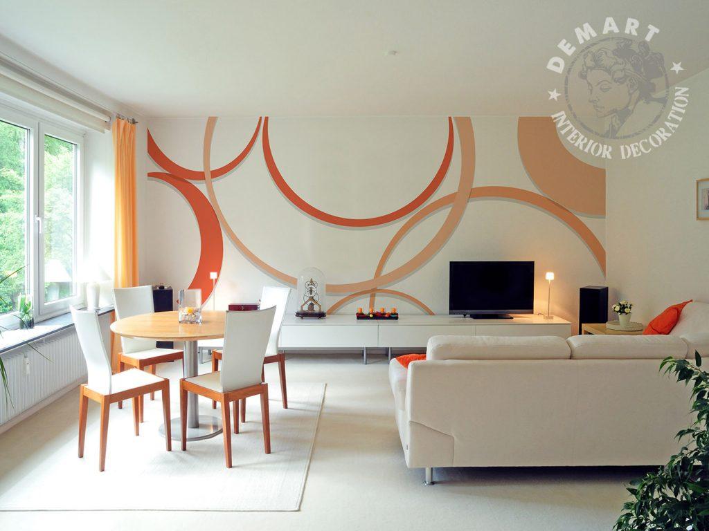 carta-parati-moderna-geometrica-soggiorno-arancione-rosso