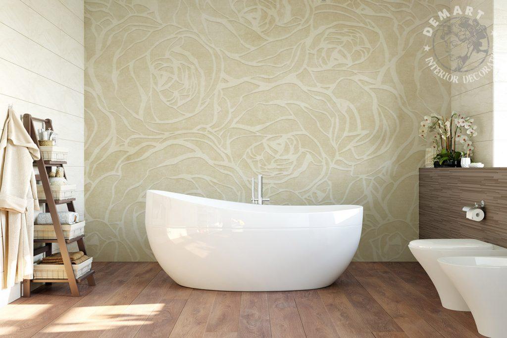 carta-parati-floreale-rose-stilizzate-vettoriale-beige-bagno