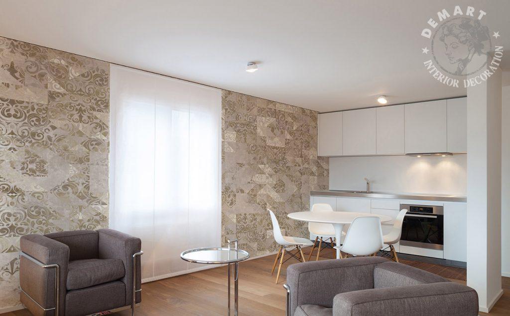 carta-parati-shabby-chic-decorazioni-barocco-mosaico-beige-soggiorno