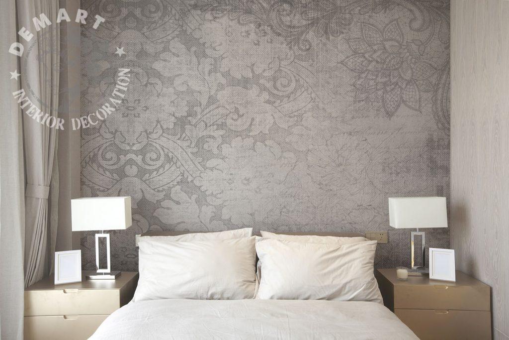 carta-parati-stile-persiano-sfondo-grigio-effetto-tessuto-camera-letto-matrimoniale