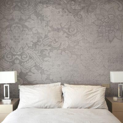 carta-parati-floreale-sfondo-grigio-effetto-tessuto
