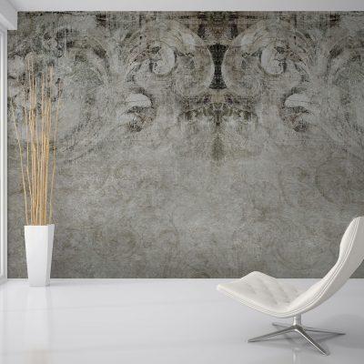 carta-parati-antiche-decorazioni-floreali-effetto-muro-rovinato-soggiorno