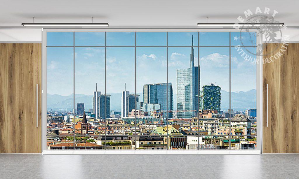 carta-parati-finestra-veduta-milano-skyline-ufficio