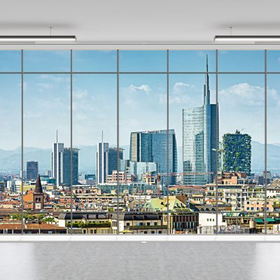 carta-parati-finestra-veduta-milano-skyline-parete-uffici