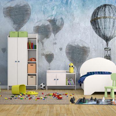 carta-parati-camera-bambini-mongolfiere